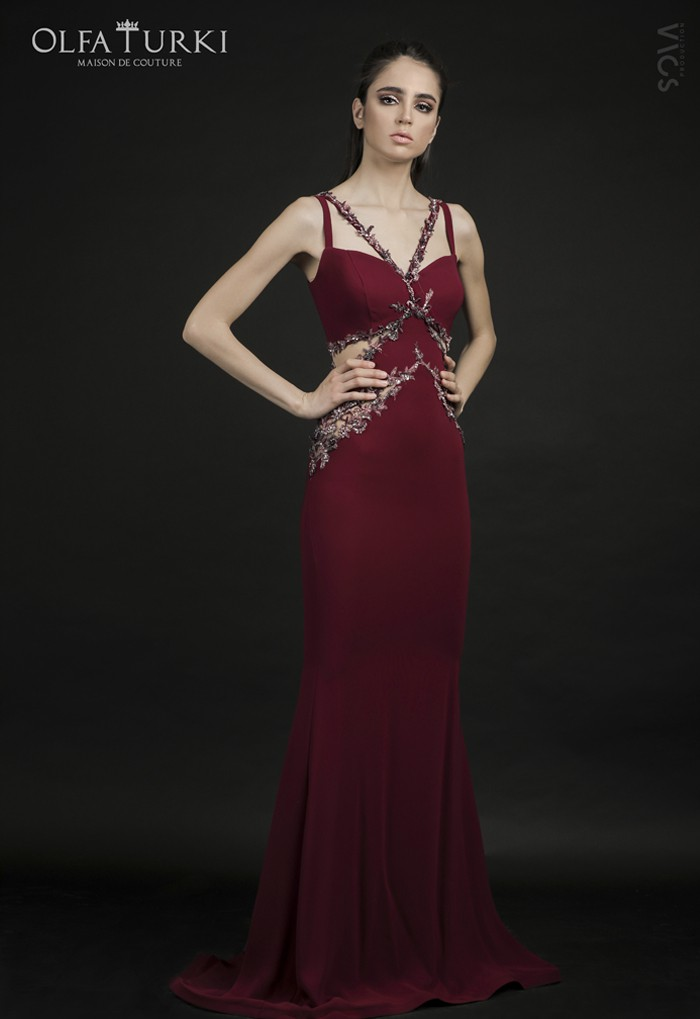 Robe rouge bordeau Kenza